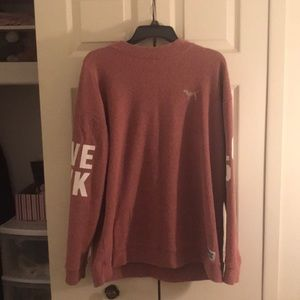 VS pink pullover sweater